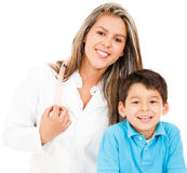 Pediatrician with a patient Royalty Free Stock Photo