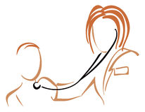 Pediatrician with stethoscope Stock Images