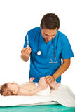 Pediatrician vaccine baby Stock Photography