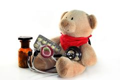 Pediatrician visit Stock Images