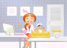 Pediatrician visit the child. Illustration of pediatrician visit the child Stock Photo