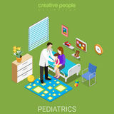 Pediatrics healthcare hospital clinic flat isometric vector 3d Royalty Free Stock Image