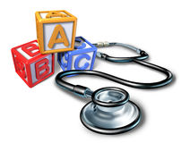 Pediatrics and pediatrician medical symbol Stock Images