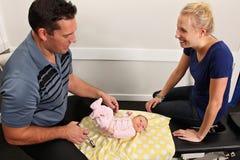 Pediatrische Chiropraktijk royalty-vrije stock afbeelding