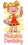 Pediatrische Tandheelkunde vector illustratie