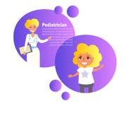 pediatriskt Doktor Vector för barn` s cartoon Isolerad ar stock illustrationer