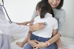 Pulmonary auscultation stock photos