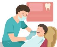 Pediatryczna dentysty wektoru ilustracja lekarka Zdjęcia Royalty Free