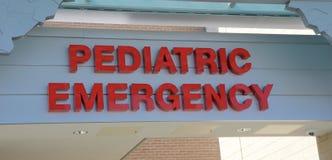 Pediatryczny nagłego wypadku znak fotografia royalty free