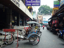 Pedicab或轮转人力车在泰国 免版税图库摄影