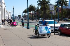 Pedicab внутри на порте Сан-Франциско Стоковое Фото