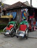 Pedicab на Hoi старый городок Стоковые Изображения RF