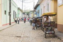 Pedicab Тринидада Стоковая Фотография