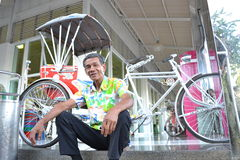 Pedicab chaufförer Arkivfoton