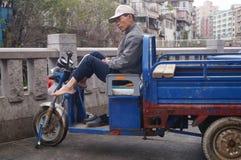 Pedicab driver Stock Photo