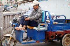 Pedicab driver Stock Images