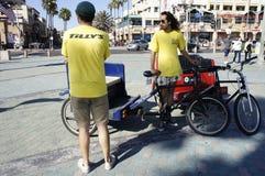 Pedicab kierowcy Obrazy Royalty Free