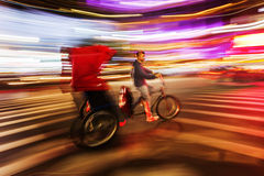 Pedicab in Manhattan, NYC, in motion blur Stock Photography