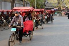 Pedicab rides in Beijing Royalty Free Stock Photos