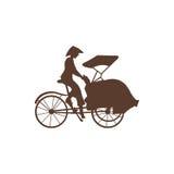Pedicab-Schattenbild Stockfoto