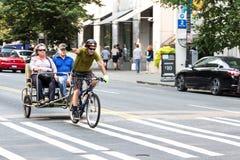 Pedicab in Seattle, Washington Lizenzfreies Stockbild