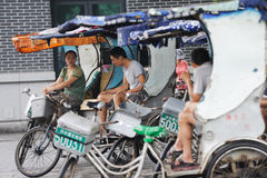 Pedicab Taxi Driver Stock Photo