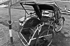 Pedicab, a traditional three wheels vehicle from Indonesia. A three wheels public transportation with single driver and can carry up to two adult passengers Stock Photography