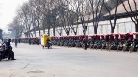 Pedicabs в Пекине Стоковые Фото