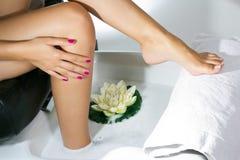 Pedicure με τα πόδια Στοκ εικόνες με δικαίωμα ελεύθερης χρήσης