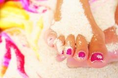 pedicure ποδιών Στοκ Φωτογραφίες