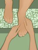 pedicure массажа ноги французское Стоковое Изображение