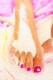 pedicure ноги Стоковые Изображения