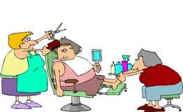 pedicure стрижки иллюстрация штока