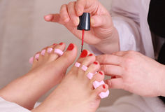 Pedicure Stockbild