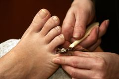 pedicure Royaltyfria Bilder