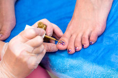 Pedicure obrazy royalty free