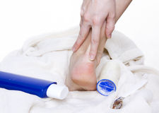 Pedicure Stockfoto