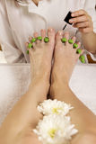 pedicure Arkivbild