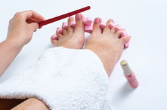 Pedicure royalty free stock image