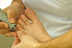 Pedicure. Foot care royalty free stock image