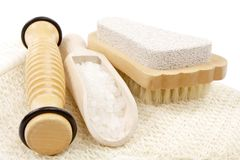 Pedicure accessories Royalty Free Stock Images