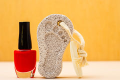 Pedicure accessories set tools closeup Stock Image