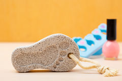Pedicure accessories set tools closeup Royalty Free Stock Images