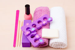 Pedicure accessories set tools closeup Royalty Free Stock Photography