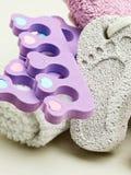 Pedicure accessories set tools closeup Stock Photo