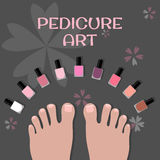 Pedicure art. Image toes and nail polish Royalty Free Stock Photo
