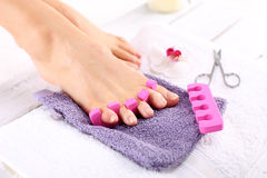 Pedicure, beautiful healthy nails Royalty Free Stock Photos