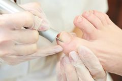 Pedicure in beauty salon Royalty Free Stock Photography