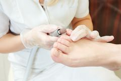 Pedicure in beauty salon Royalty Free Stock Photo