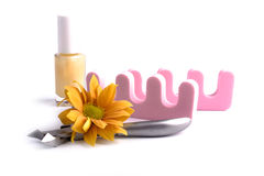 Pedicure beauty set Royalty Free Stock Image